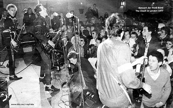 Clash gig 1977, with Shane MacGowan in the audience