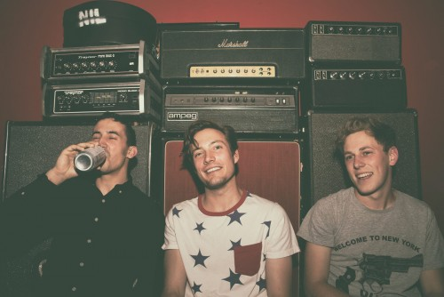 The Dirty Nil - Luke Bentham is center, in star shirt.