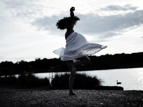 Angéline, dancing.